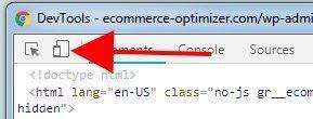 Chrome Dev Tools to Check  Moblie Listing Optimization