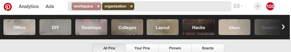 Pinterest Search