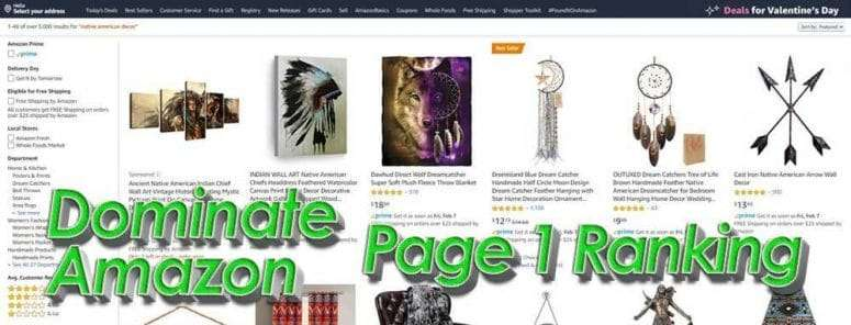 Rank On Page One of Amazon